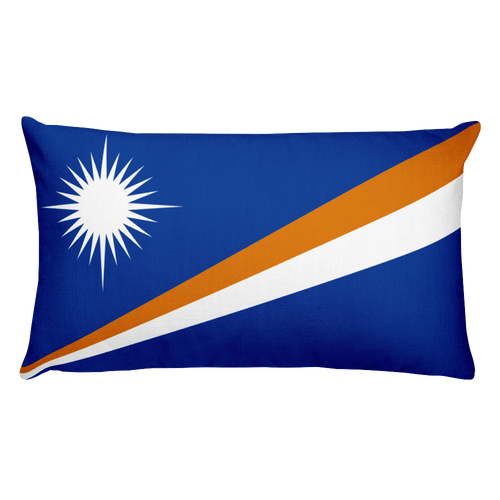 Default Title Marshall Islands Flag Allover Print Rectangular Pillow Home by Design Express