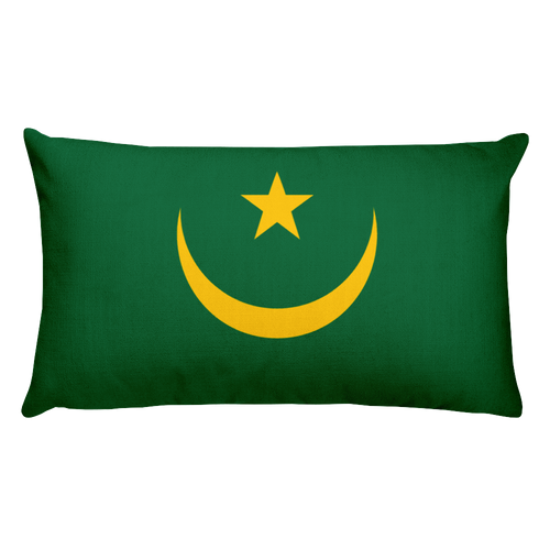 Default Title Mauritania Flag Allover Print Rectangular Pillow Home by Design Express