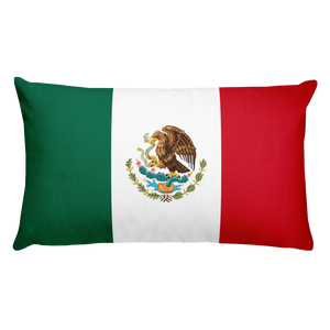 Default Title Mexico Flag Allover Print Rectangular Pillow Home by Design Express