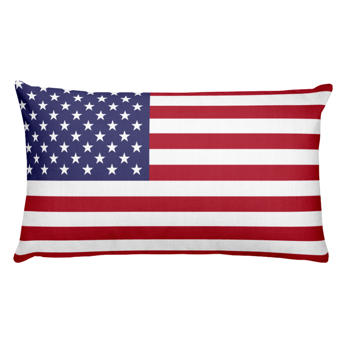 Midway Islands Flag Allover Print Rectangular Pillow