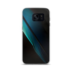 Samsung Galaxy S7 Blue Black Feather Samsung Case by Design Express