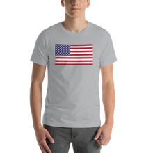 "Silver / S United States Flag ""Solo"" Short-Sleeve Unisex T-Shirt by Design Express"