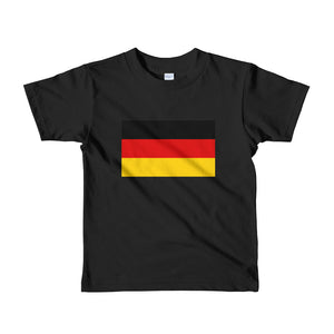 Black / 2yrs Germany Flag Short sleeve kids t-shirt by Design Express