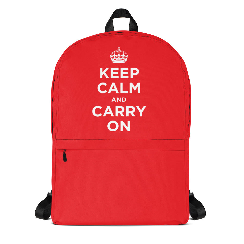 Default Title Keep Calm and Carry On 01 Backpack by Design Express