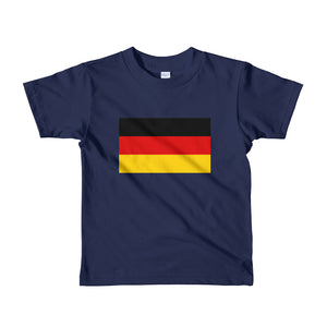 Navy / 2yrs Germany Flag Short sleeve kids t-shirt by Design Express