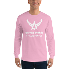 "Light Pink / S United States Space Force ""Reverse"" Long Sleeve T-Shirt by Design Express"