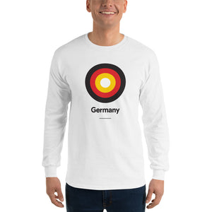"White / S Germany ""Target"" Long Sleeve T-Shirt by Design Express"