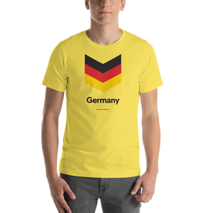 "Yellow / S Germany ""Chevron"" Unisex T-Shirt by Design Express"
