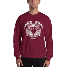 Maroon / S United States Of America Eagle Illustration Reverse Sweatshirt by Design Express
