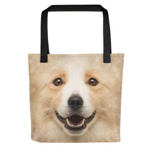 Default Title Border Collie Dog Tote bag by Design Express