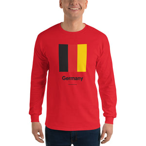 "Red / S Germany ""Block"" Long Sleeve T-Shirt by Design Express"