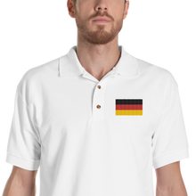 White / S Germany Flag Embroidered Polo Shirt by Design Express
