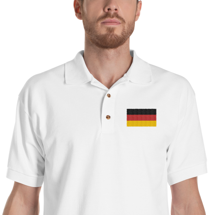 Germany Flag Embroidered Polo Shirt
