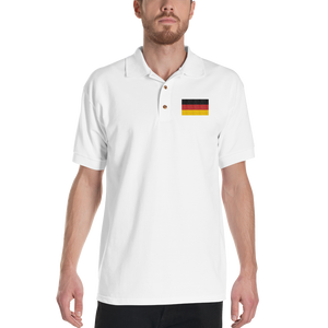 Germany Flag Embroidered Polo Shirt by Design Express