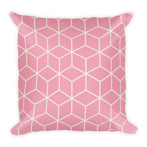 Diamonds Dusty Rose Square Premium Pillow