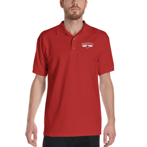 Lifeguard Classic Red Embroidered Polo Shirt by Design Express