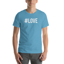 Ocean Blue / S Hashtag #LOVE Short-Sleeve Unisex T-Shirt by Design Express