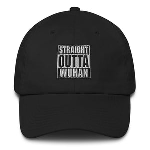 Default Title Straight Outta Wuhan Baseball Black Cap (100% Made in the USA 🇺🇸) Baseball Caps by Design Express