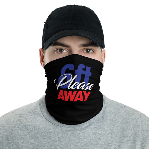 Default Title 6ft Please Away Blue Red Neck Gaiter Masks by Design Express