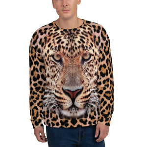 "XS Leopard ""All Over Animal"" Unisex Sweatshirt by Design Express"