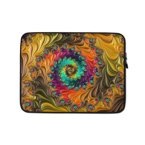 13 in Multicolor Fractal Laptop Sleeve by Design Express
