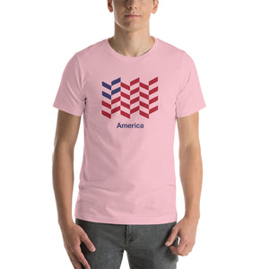 "Pink / S America ""Barley"" Short-Sleeve Unisex T-Shirt by Design Express"