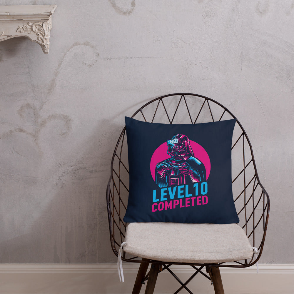 Default Title Darth Vader Level 10 Completed (Dark) Premium Pillow by Design Express