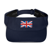 "Navy United Kingdom Flag ""Solo"" Visor by Design Express"