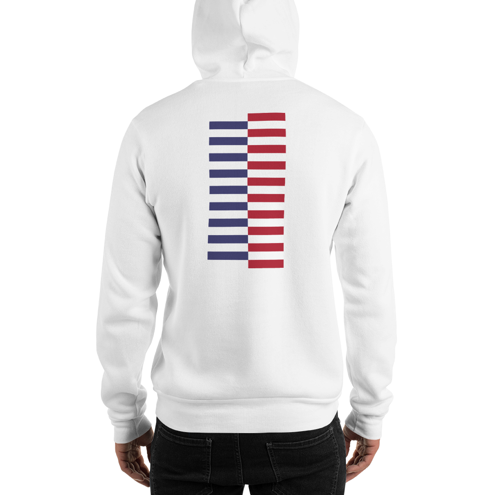 S America Tower Pattern Hoodie by Design Express