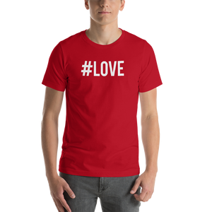 Red / S Hashtag #LOVE Short-Sleeve Unisex T-Shirt by Design Express