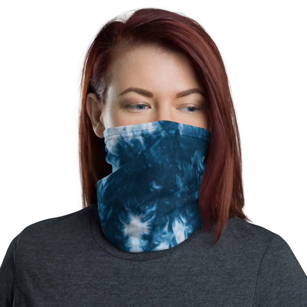 Default Title Blue Tie Dye Neck Gaiter Masks by Design Express
