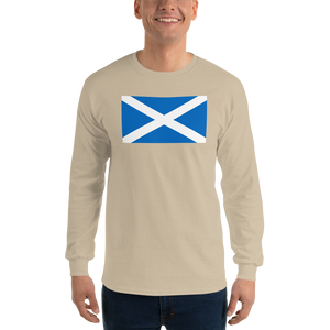 "Sand / S Scotland Flag ""Solo"" Long Sleeve T-Shirt by Design Express"