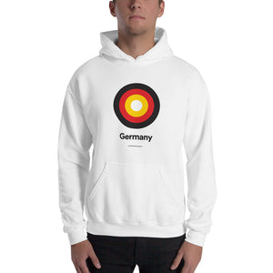 "White / S Germany ""Target"" Hooded Sweatshirt by Design Express"