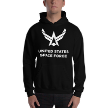 "Black / S United States Space Force ""Reverse"" Hooded Sweatshirt by Design Express"
