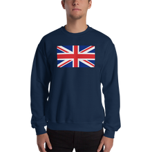 "Navy / S United Kingdom Flag ""Solo"" Sweatshirt by Design Express"