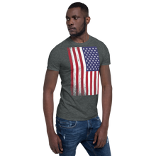 US Flag Distressed Short-Sleeve Unisex T-Shirt by Design Express