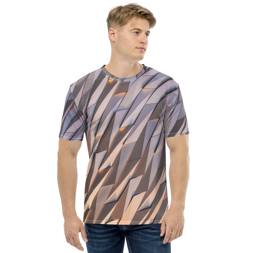 XS Abstract Metal Men's T-shirt by Design Express