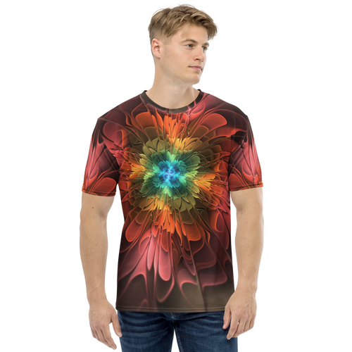 XS Abstract Flower 03 Men's T-shirt by Design Express