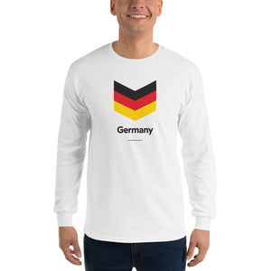 "White / S Germany ""Chevron"" Long Sleeve T-Shirt by Design Express"