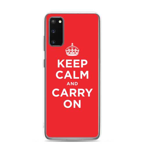 Samsung Galaxy S20 Keep Calm and Carry On Red Samsung Case by Design Express