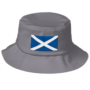 "Grey Scotland Flag ""Solo"" Old School Bucket Hat by Design Express"