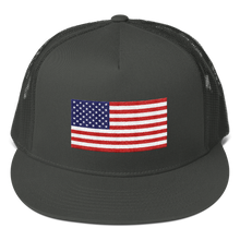 "Charcoal United States Flag ""Solo"" Trucker Cap by Design Express"