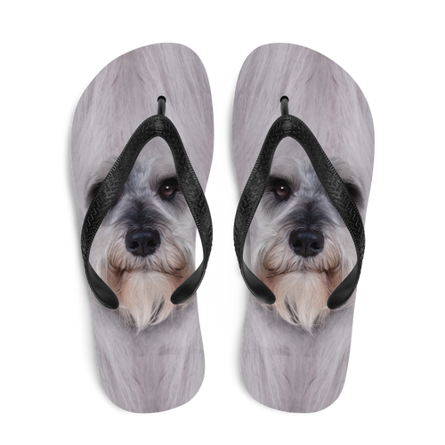 Schnauzer Dog Flip-Flops by Design Express
