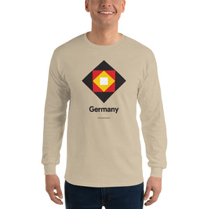"Sand / S Germany ""Diamond"" Long Sleeve T-Shirt by Design Express"