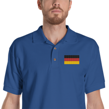 Royal / S Germany Flag Embroidered Polo Shirt by Design Express