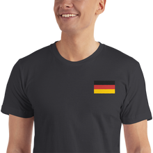 Black / S Germany Flag Embroidered T-Shirt by Design Express