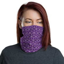 Default Title Diamond Purple Pattern Neck Gaiter Masks by Design Express