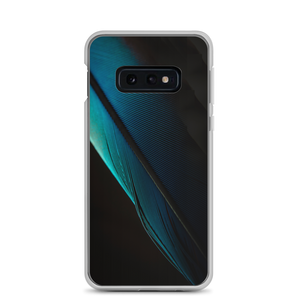 Samsung Galaxy S10e Blue Black Feather Samsung Case by Design Express