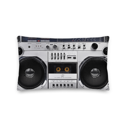 Default Title Boom Box 80s Rectangle Premium Pillow by Design Express
