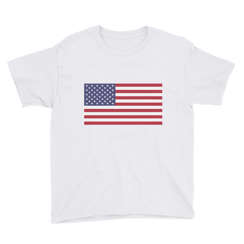 White / XS United States Flag